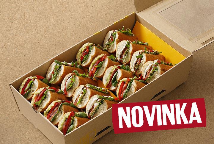 Vege box (2x Avocado, 2x Caprese)