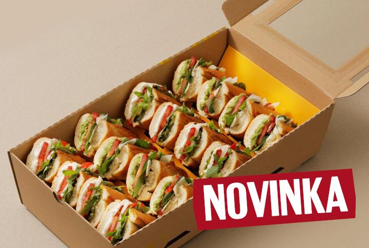 Vege box (2x Avocado with parmesan, 2x Caprese)