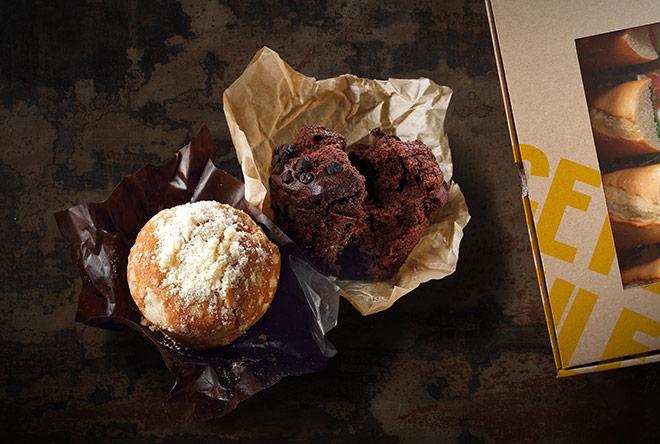 Sweet box (borůvkové, malinové a čokoládové muffiny)